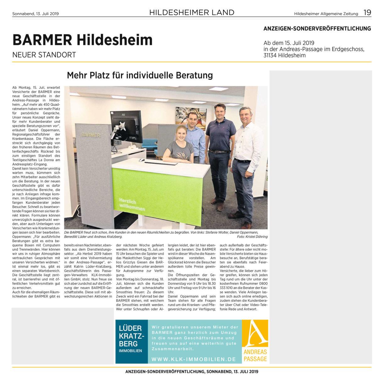 Pflegeschule des BK eröffnet eine Außenstelle in der Andreas-Passage